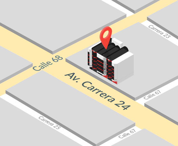 Estamos ubicados en Centro comercial Las Rampas Carrera 24 No 67-28 Ofc. 218 | LB Technology