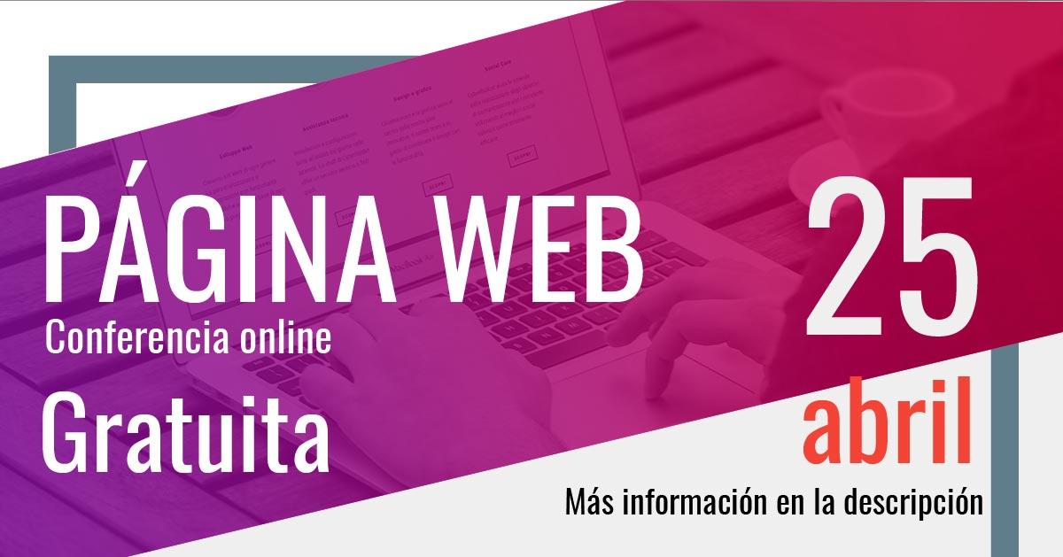 Resumen conferencia página web